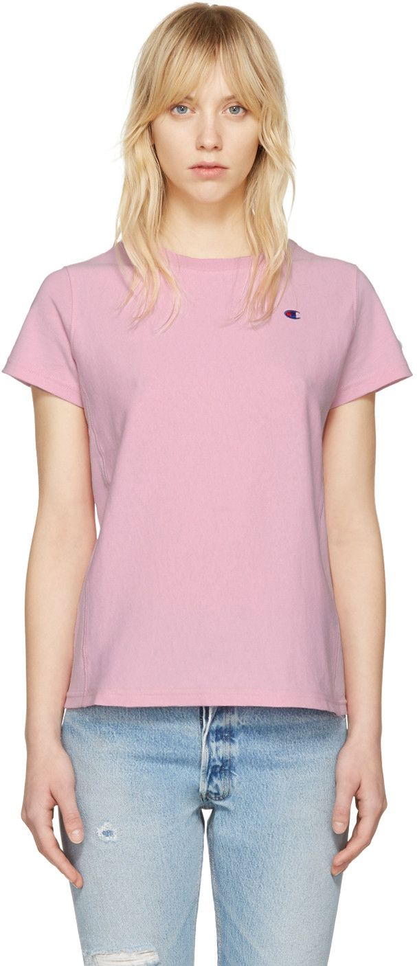 0be872a37 CHAMPION Pink Small Logo T-Shirt.  champion  cloth  t-shirt ...