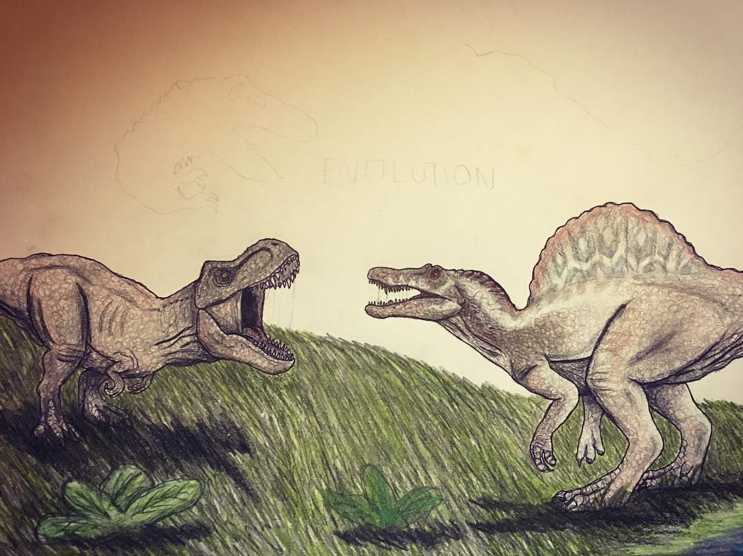 TRex vs Spino 2/3 Probably tomorrow will be ready! trex