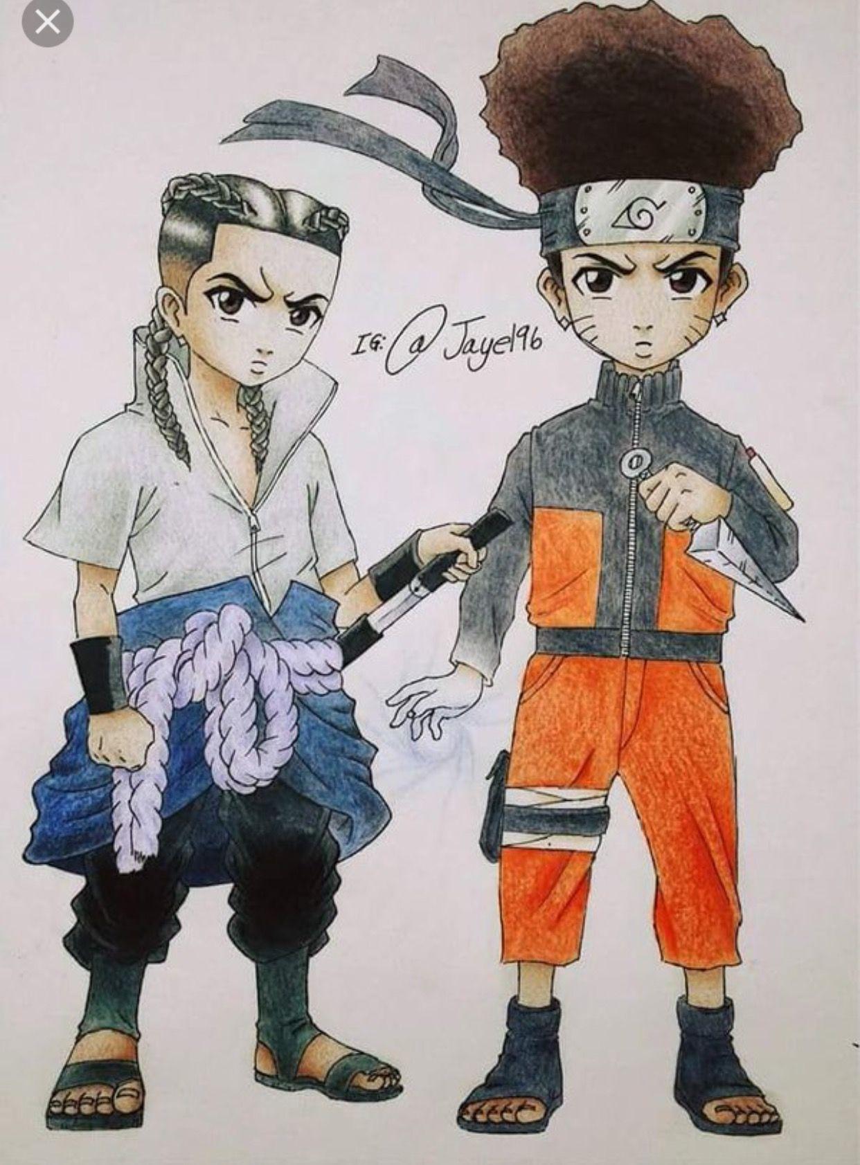 Boondocks Naruto And Sasuke Boondocks Drawings Aaron Mcgruder Black Anime Characters Supreme Wallpaper