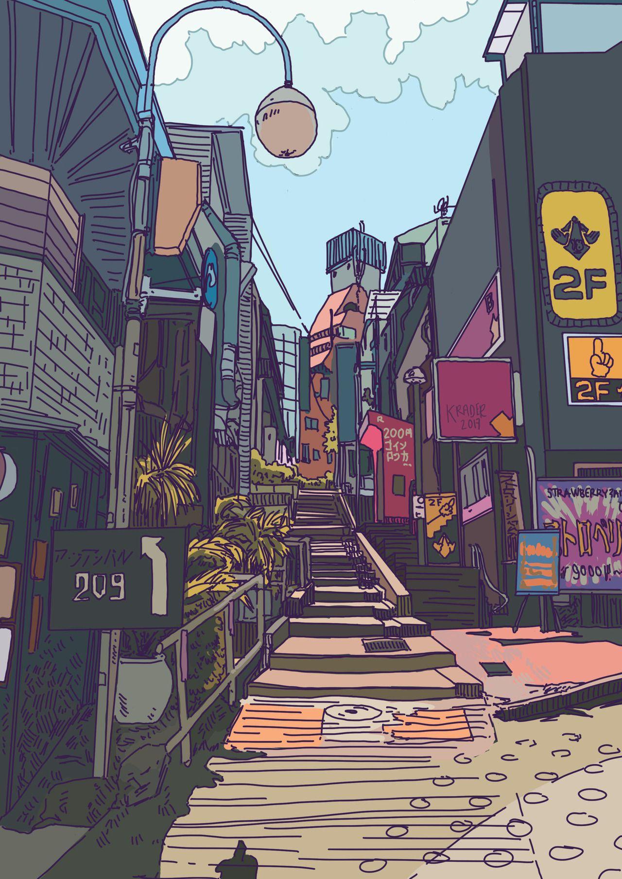 Hastily Drawn Aesthetic Art Anime Scenery Wallpaper Anime Scenery
