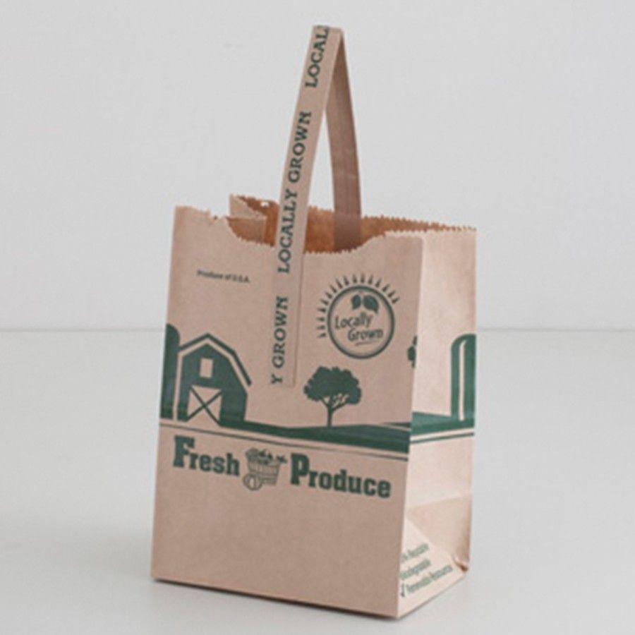 Locally Grown Kraft Paper Tote Bags Paper Bags Shop Kraft Paper Farmers Market Logo Paper Bag Design