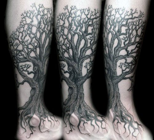 50 Oak Tree Tattoo Designs For Men Leaves And Acorns Tattoo