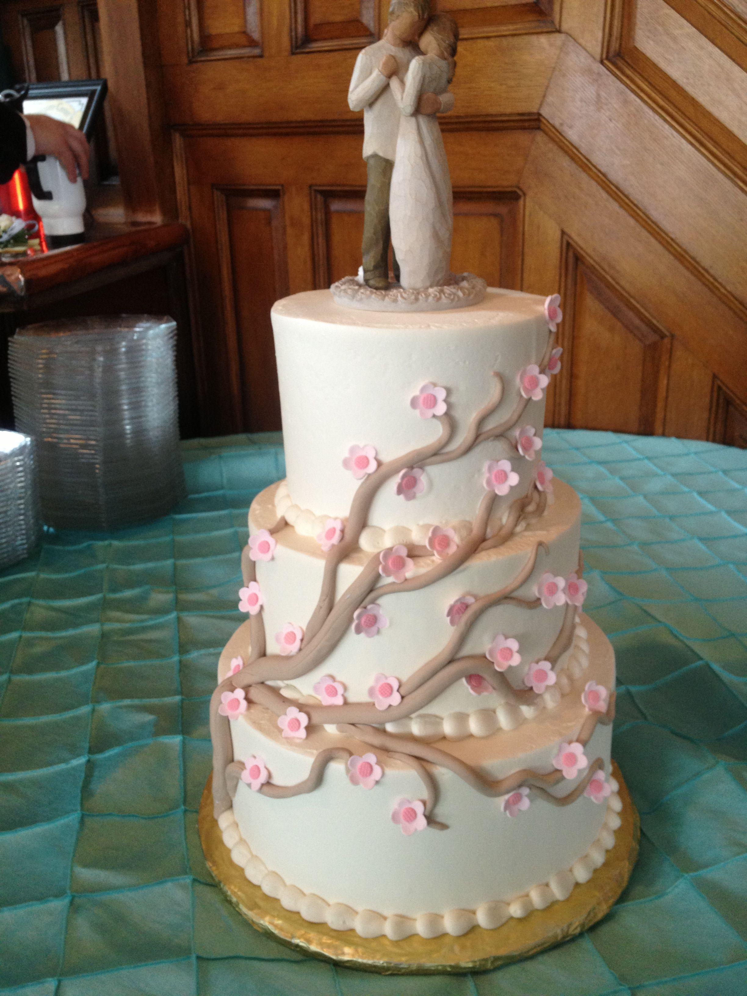 Cherry Blossoms Wedding Cake Cherry blossom wedding cake