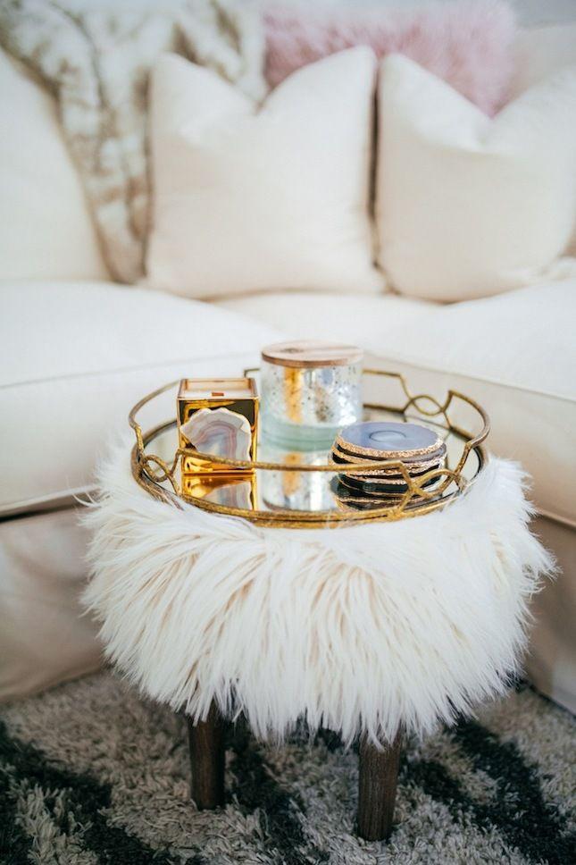 Einrichtungsideen mit Fell kuschelige Möbel für kalte Wintertage - schöne bilder fürs wohnzimmer