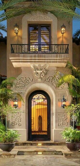 Majestuosa entrada!! Homes Pinterest Doors, Architecture and House