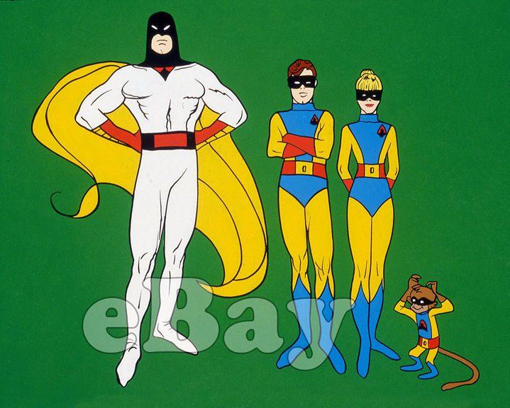 Rare! SPACE GHOST Cartoon Color TV Photo HANNA BARBERA Studios JAN Jace BLIP   eBay