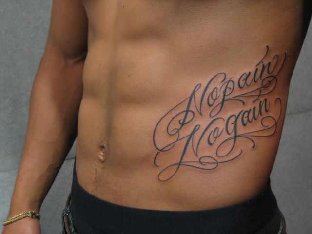 No Pain No Gain Tattoo Lettering Pinterest Tattoos Word