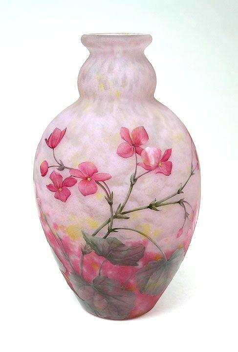 Vase Dcor Floral Daum Nancy Daum Pinterest Vase Glass And