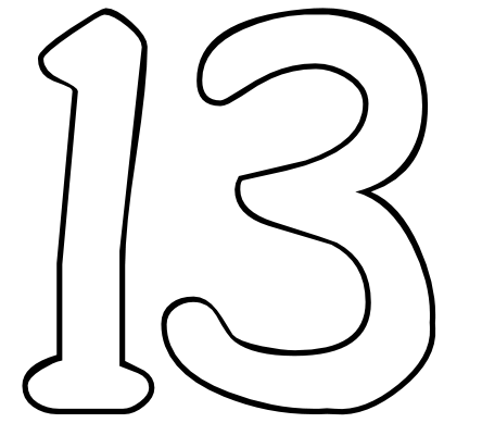 images of number 13 From Color
