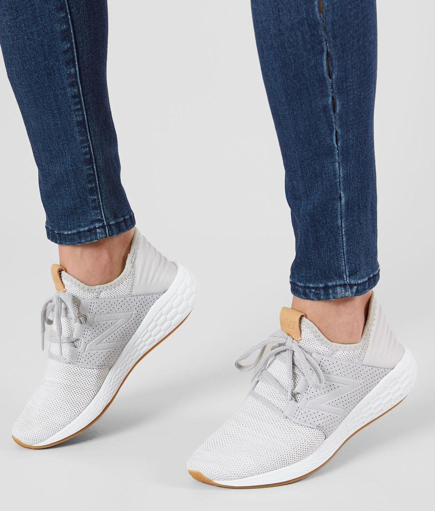 new concept e1cd1 82b57 New Balance Fresh Foam Cruz v2 Shoe - Women s Shoes in Rain Cloud Munsell  White   Buckle