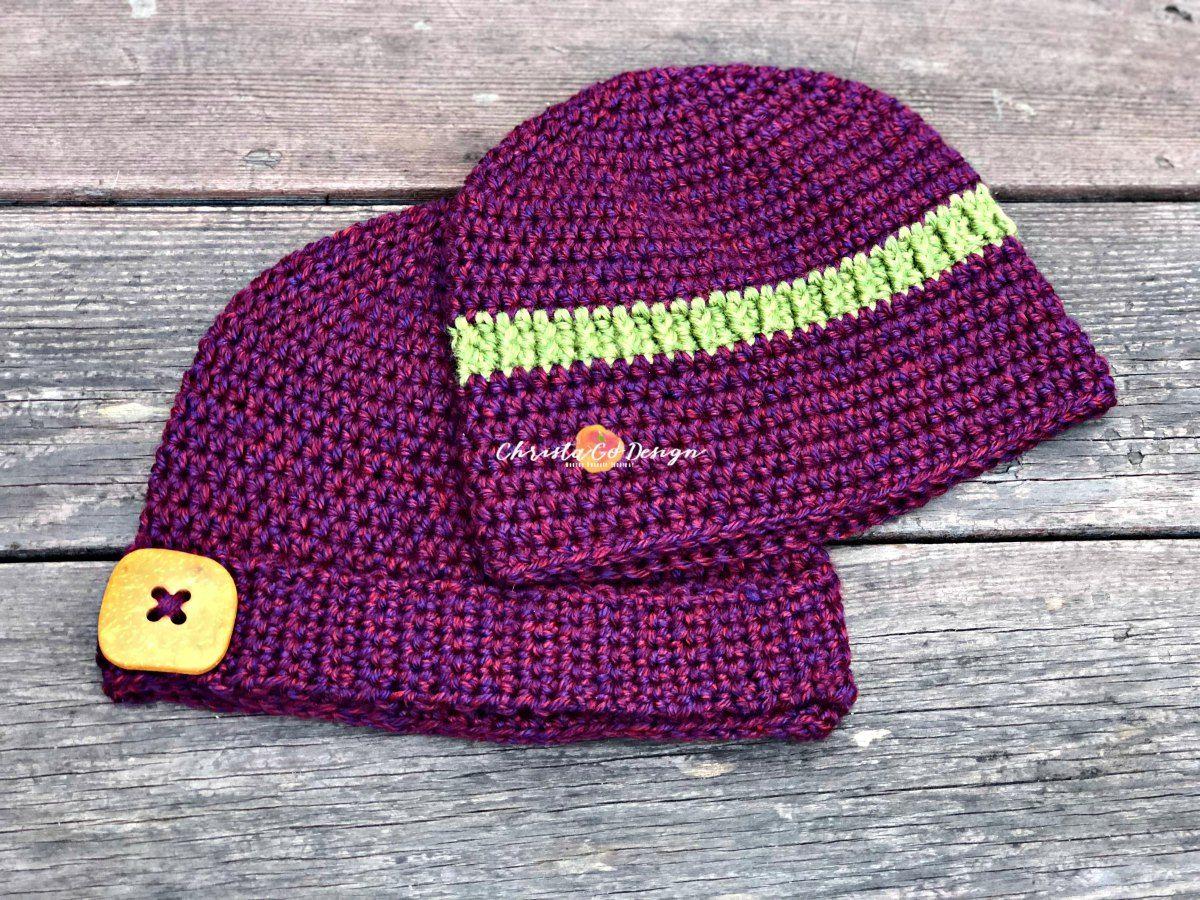 Embellished Basic Beanie Free Crochet Pattern   Crochet!   Pinterest