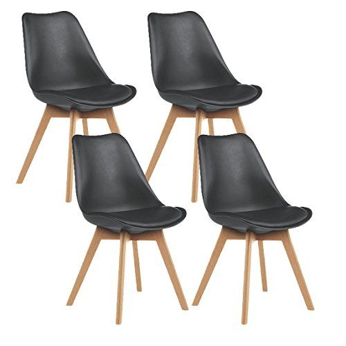 Mmilo Tulip Dining Chair/Office Chair With Solid Legs