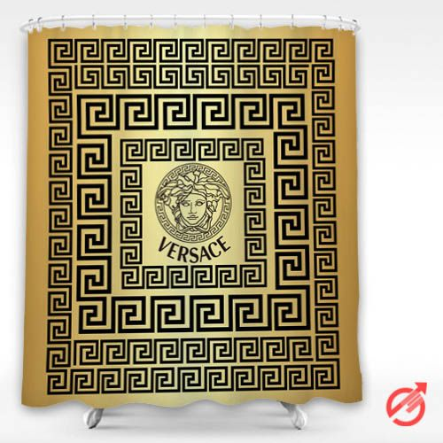 Cheap Versace On Greek Key Gold Surface Shower Curtain