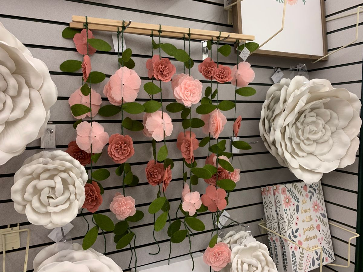 Pink Hanging Flowers Wood Wall Decor Hobby Lobby 1953702 Wood Wall Decor Hanging Flowers Wall Decor