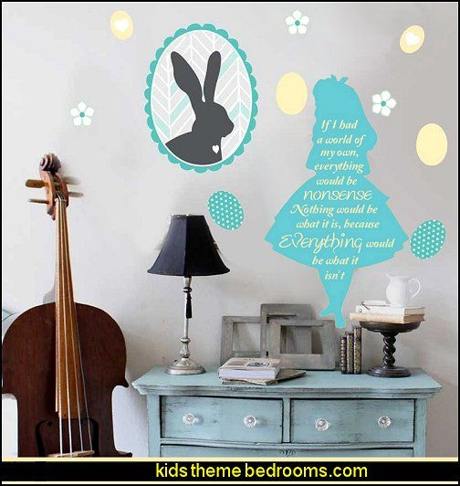 Alice In Wonderland Wall Decal Stickers Easy Way To Decorate The Walls In  The Alice Part