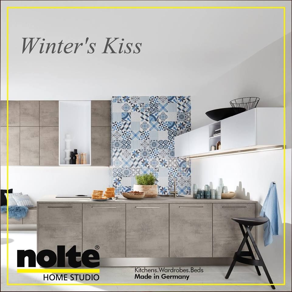Kitchen Accessories Kochi: A Touch Of Warmth In Arctic White And Stone Beton. Perfect