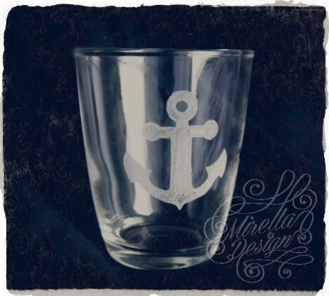 Maritimes Glas Etched Maritim Nautic Nautical Anchor Anker Gravieren Gravur Glas Glass Carved Diy Handmade Sea Glasgravur Gravur Ideen Gravur