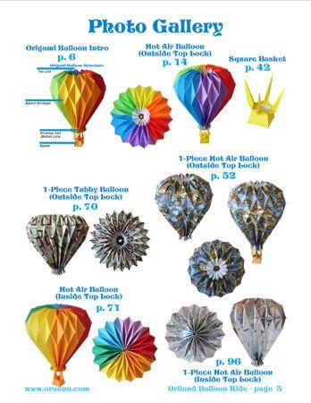 Origami Hot Air Balloons Crafting Time Diy Pinterest Hot Air