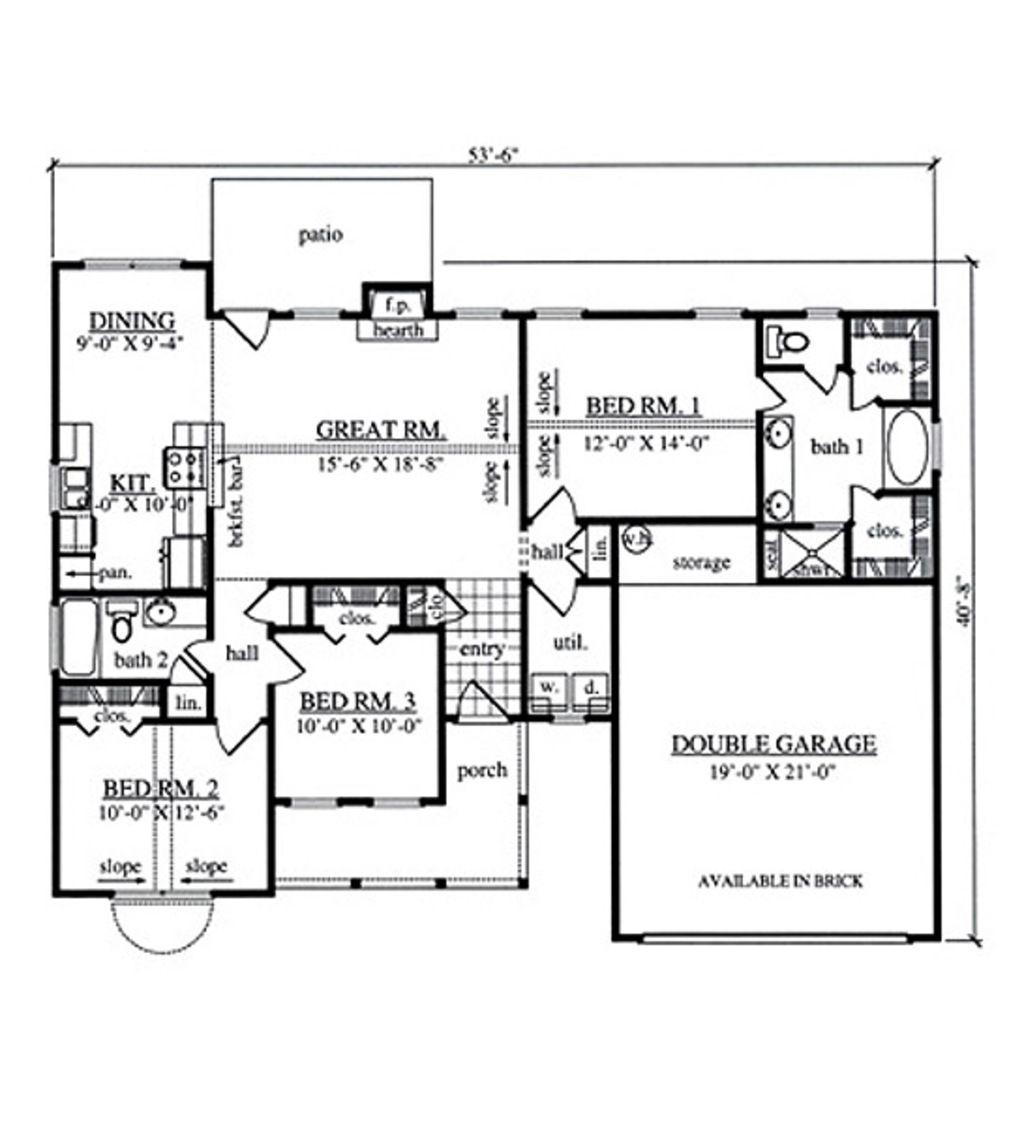 farmhouse style house plan 3 beds 2 baths 1354 sq ft plan 42 farmhouse style house plan 3 beds 2 baths 1354 sq ft plan 42