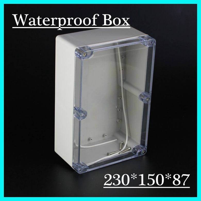 230 150 87mm Plastic Waterproof Enclosure With Transparent Cover Ip66 Waterproof Enclosure Electronics Projects Plastic Junction Boxes