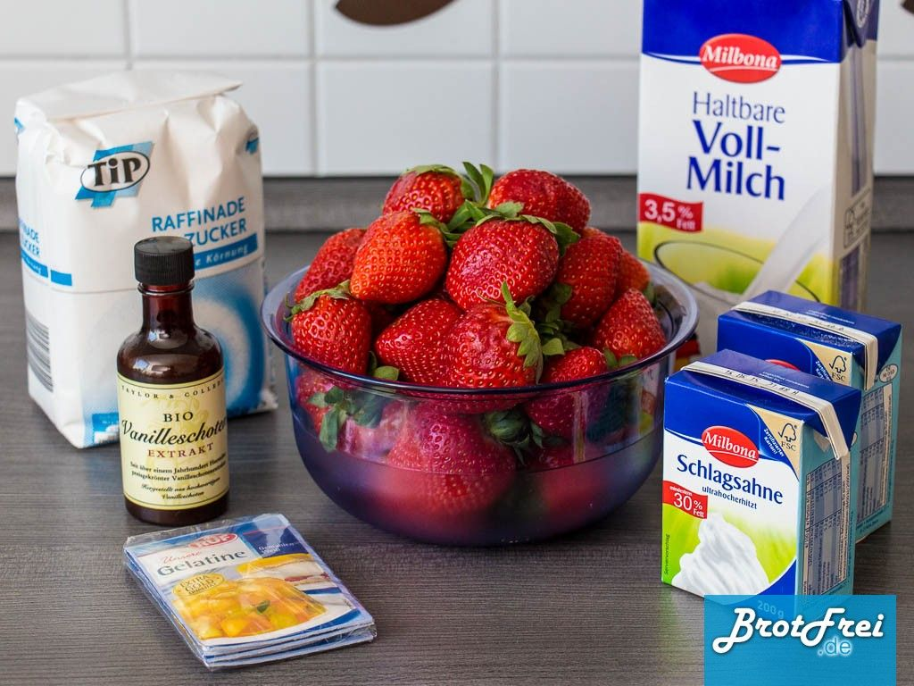 Photo of Recipe for a strawberry panna cotta to make yourself ›Bread-free