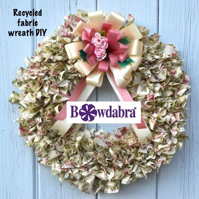 Photo of How to make an amazing recycled scrap fabric wreath
