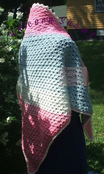 Unicorn Shawl - free pattern at Sherry\'s Crochet Corner. | shawls ...