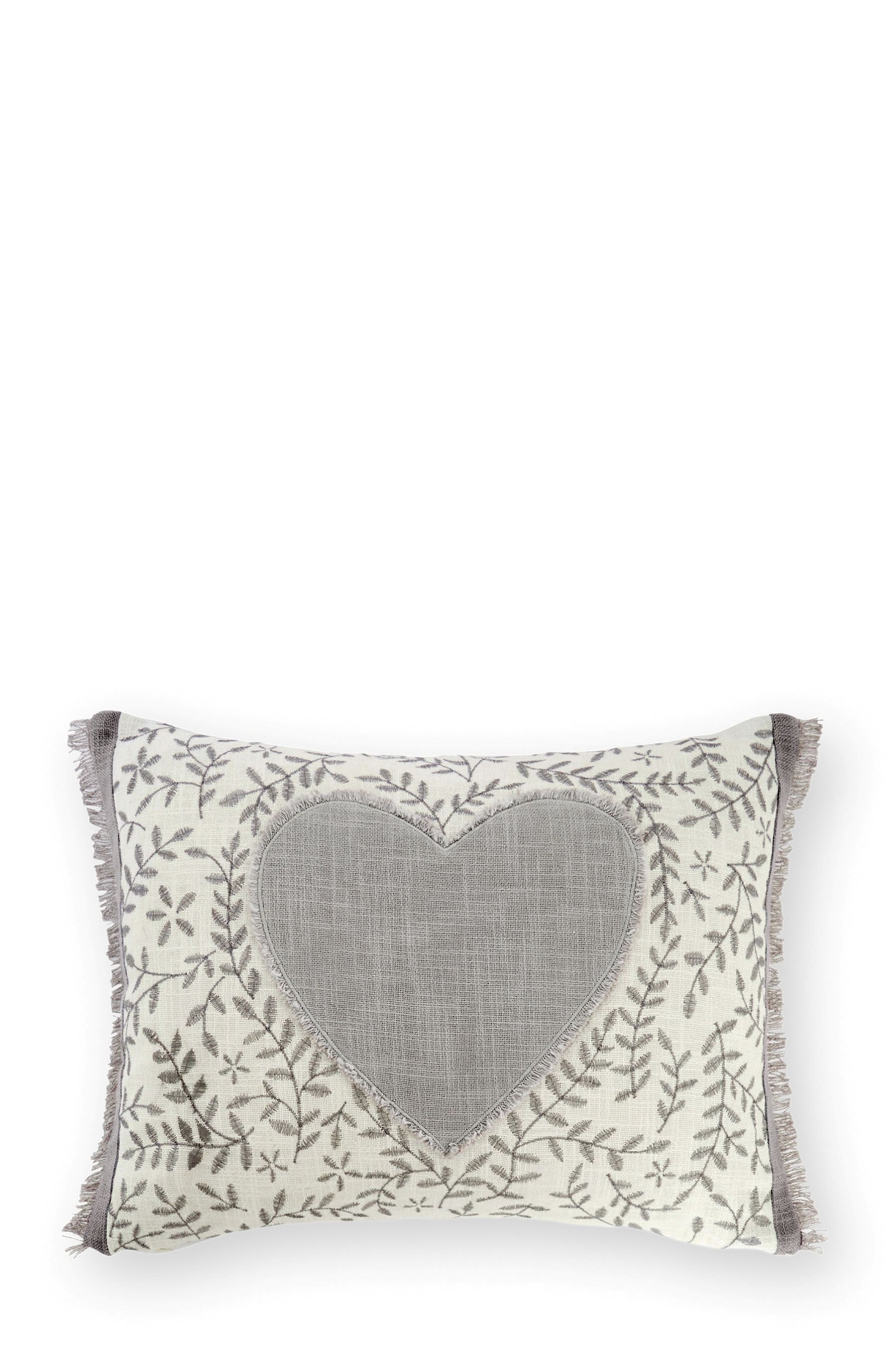 Buy Appliqué Heart Embroidered Cushion from the Next UK