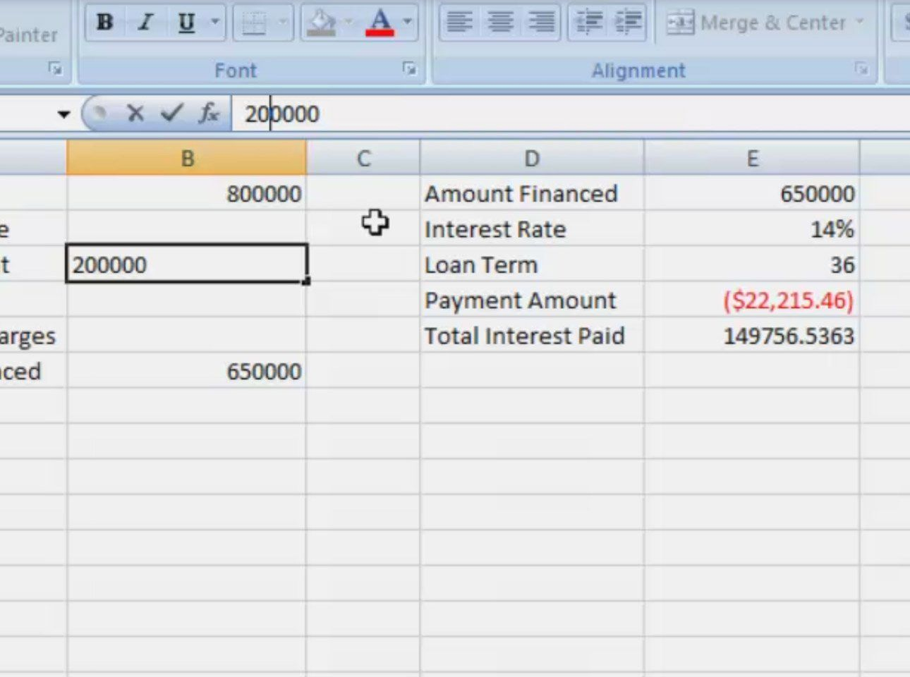 Car Loan formula Excel in 2020 (With images) Car loan