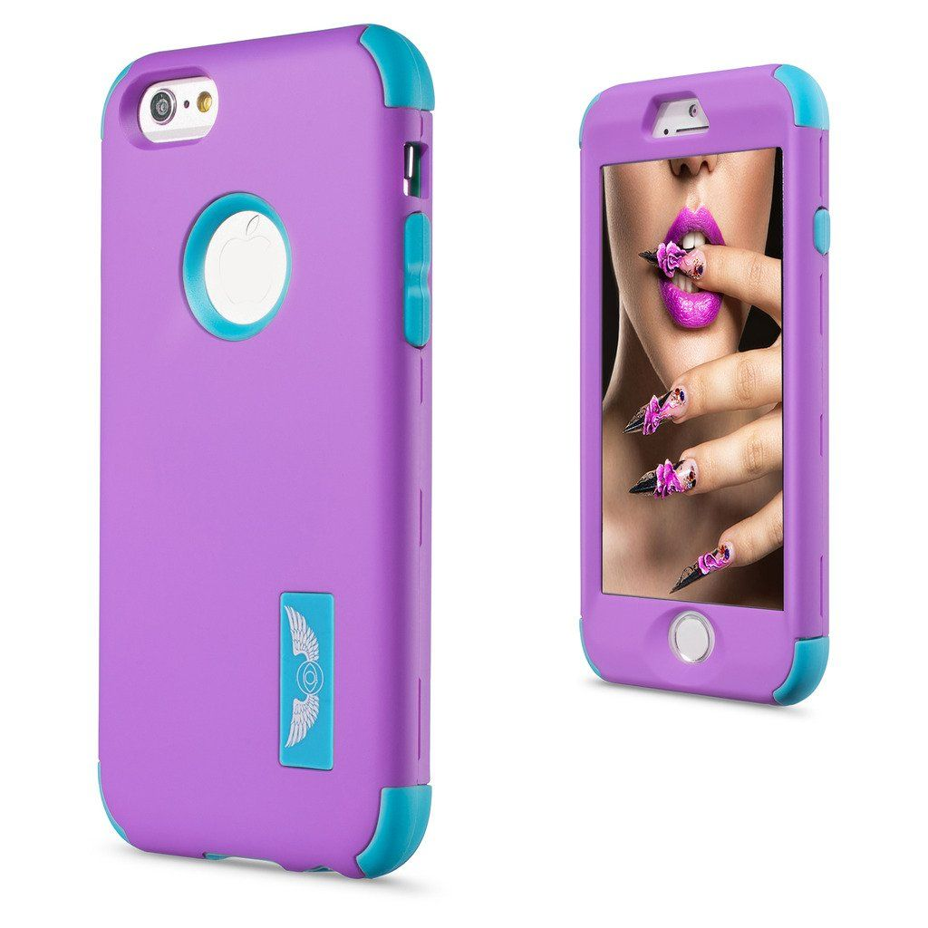 iPhone 6 Plus Case, iPhone 6S Plus Case (5.5 inch),Quola Shock Absorbing Case with Hybrid 3in1 Cover Soft silicone + Hard PC Material Design for Apple iPhone 6s Plus / 6 Plus(Purple and Blue). Specially designed for iPhone 6 Plus, iPhone 6S Plus (5.5 inch); will not fit iPhone 6, iPhone 6s (4.7) inch. Polycarbonate hard shell with flexible TPU inner core dual layer protection from drops and scratches,3 Piece Combo Hybrid design. Protects your iPhone 6s and iPhone 6 against any scratch…