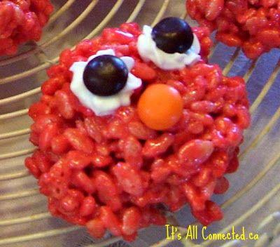 elmo rice krispies how cute!