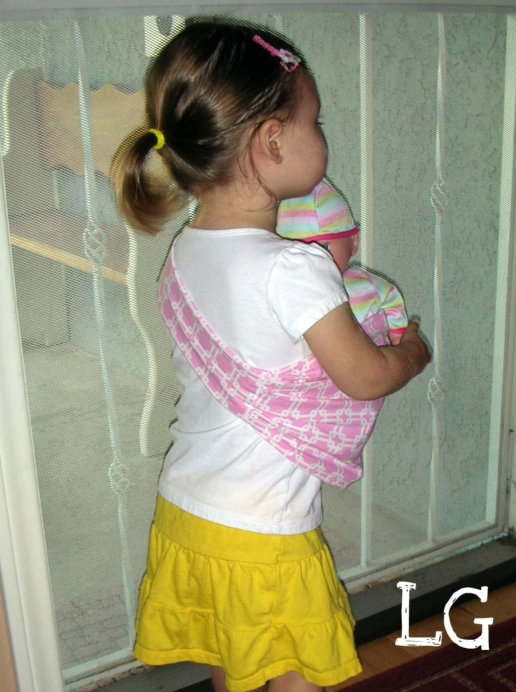 Diy Baby Doll Sling Tutorial Gotta Be One Of The Cutest