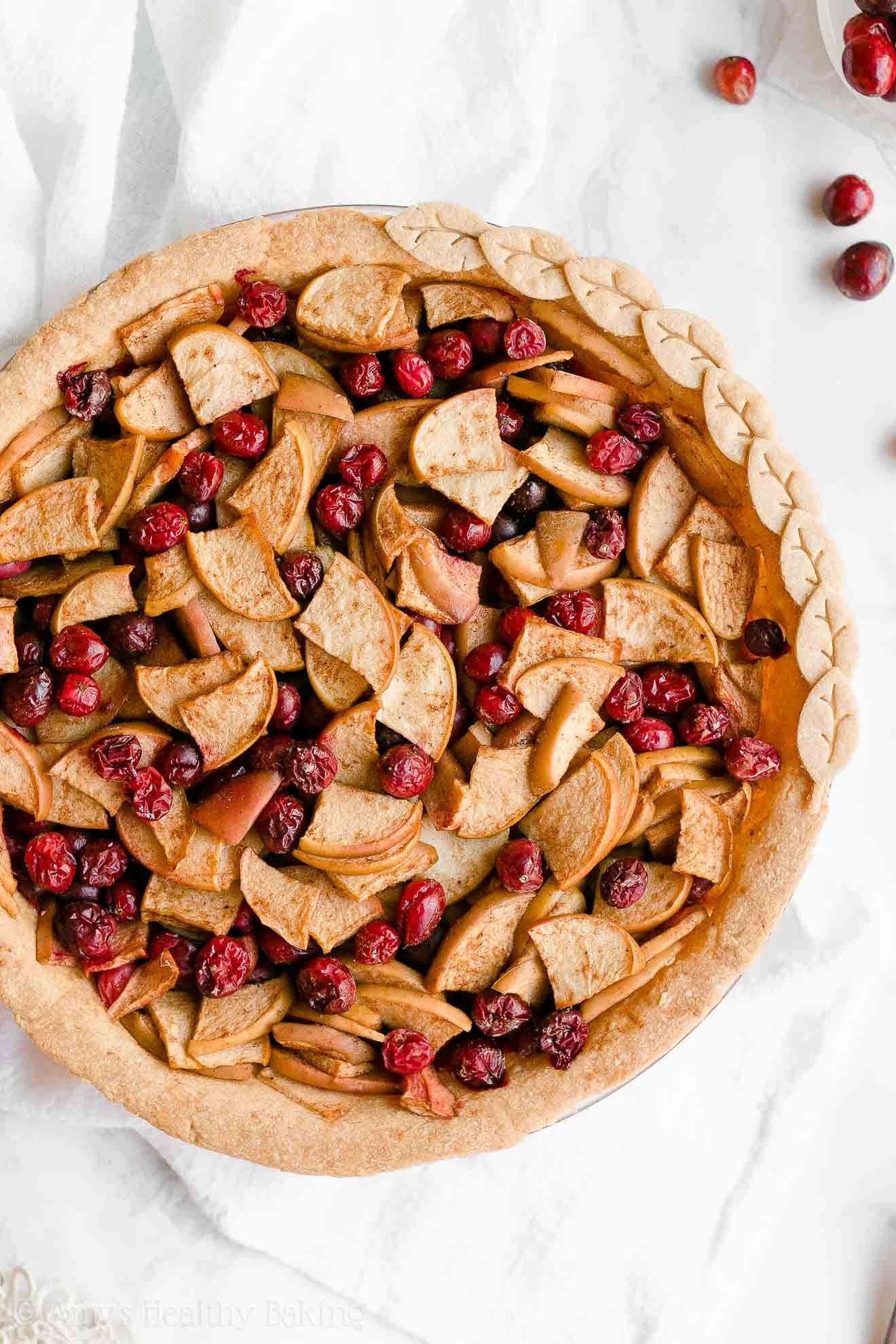 Healthy Cranberry Apple Pie Only 125 Calories Including The