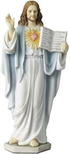 6.5 Inch Sacred Heart of Jesus with Holy Scriptures Light Color