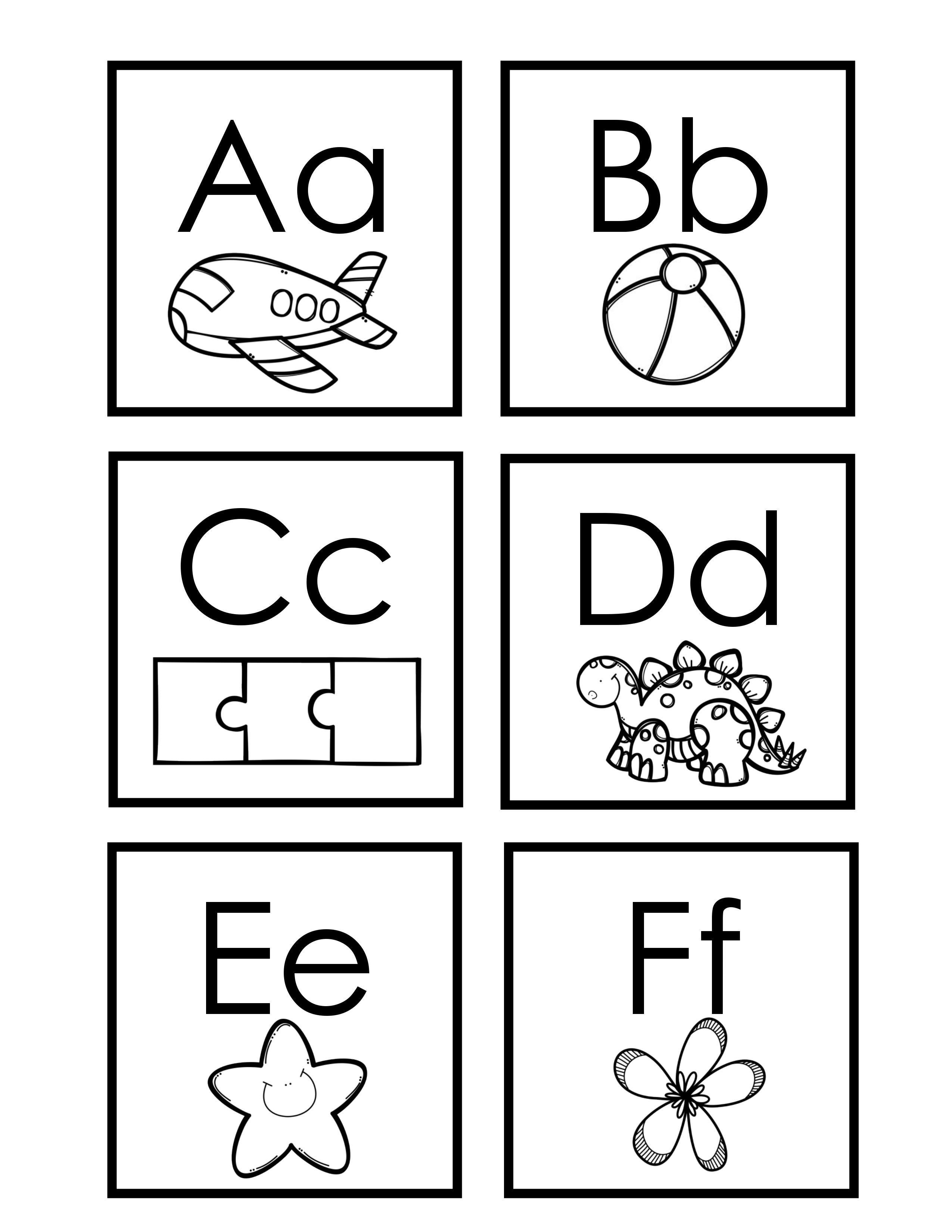 Mini cartes de l'alphabet noir et blanc à imprimer ...