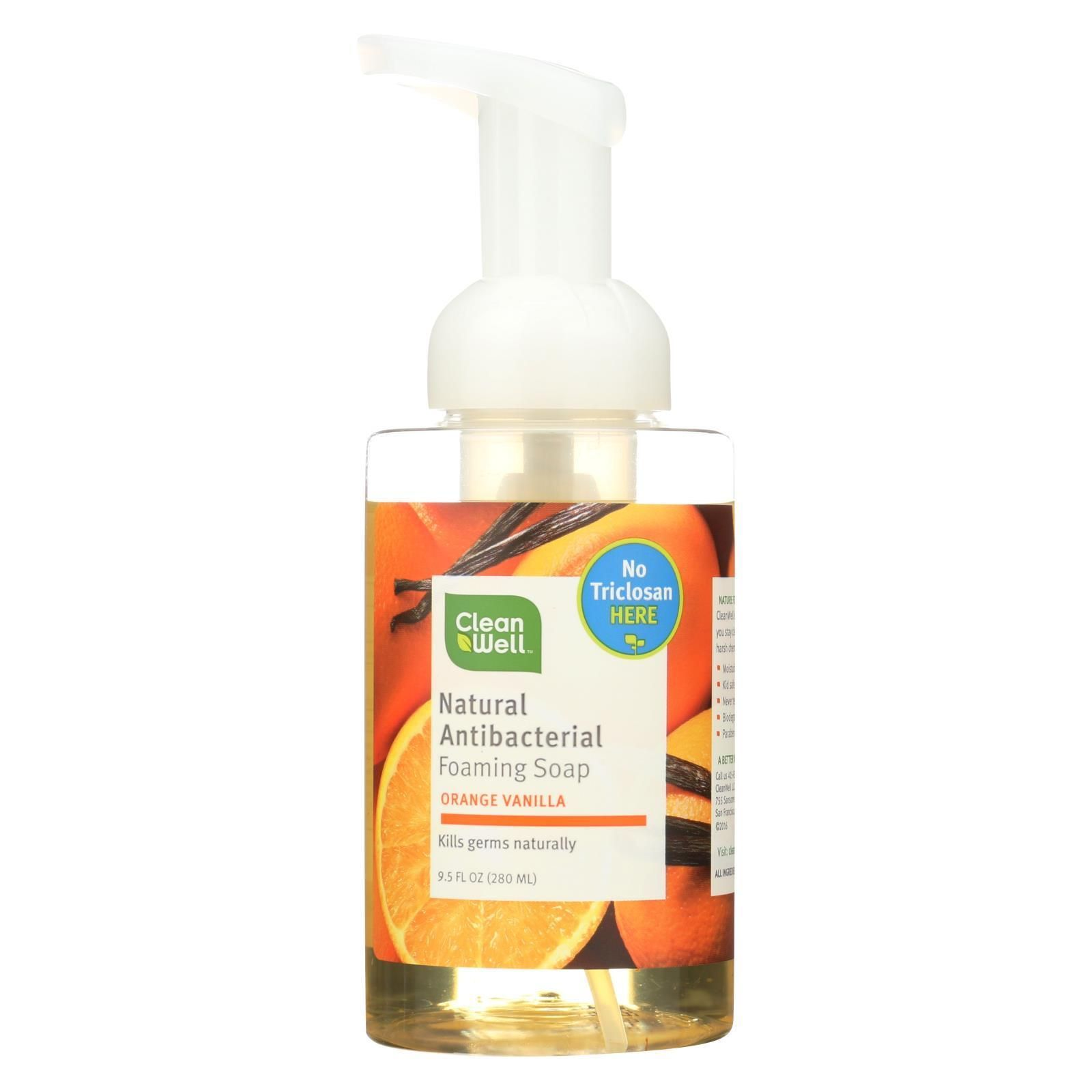 Cleanwell All Natural Antibacterial Foaming Hand Wash Orange