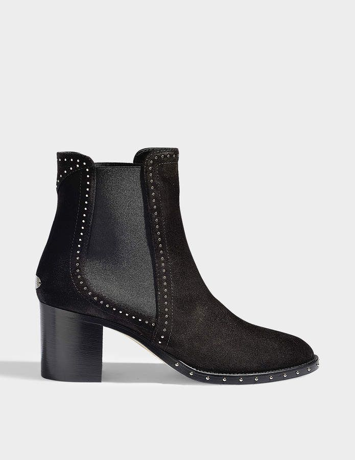 3dbd48e617d Jimmy Choo Merril suede and crystal booties