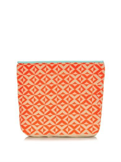 Camille woven-cotton clutch | Sophie Anderson | MATCHESFASHION...
