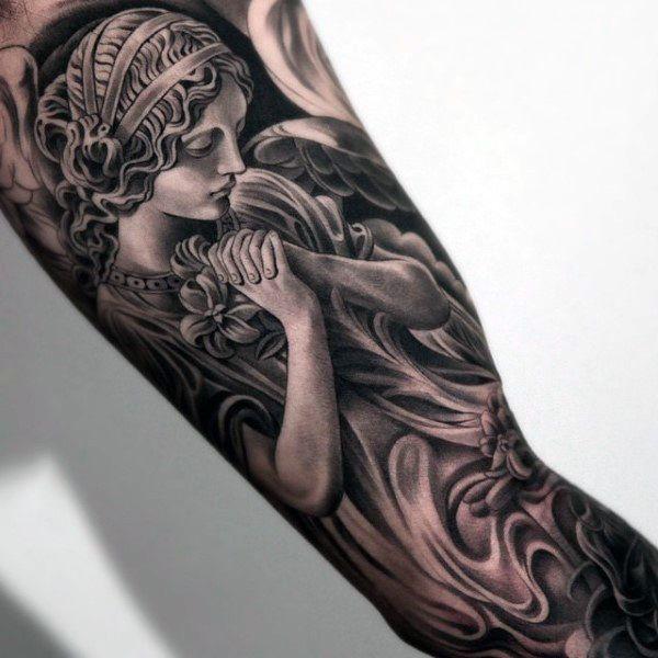 Cita Religiosa Cristiana Con La Paloma Blanca Interior Del Brazo Tatuajes Para Los Hombres Tatuajes De Famosos Tatuajes De Moda Tatuajes Parte Interna Del Codo