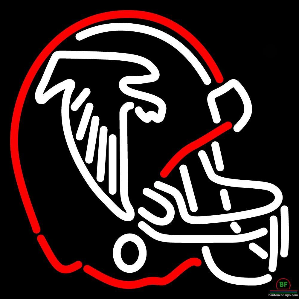 Atlanta Falcons Helmet Neon Sign Nfl Teams Neon Light Atlanta Falcons Helmet Neon Signs Helmet Logo