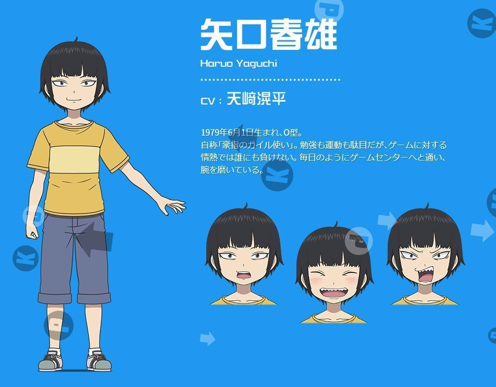 Haruo Yaguchi Va Kohei Amasaki Anime High Score Girl In 2020 Scores Anime Smile Fan Art