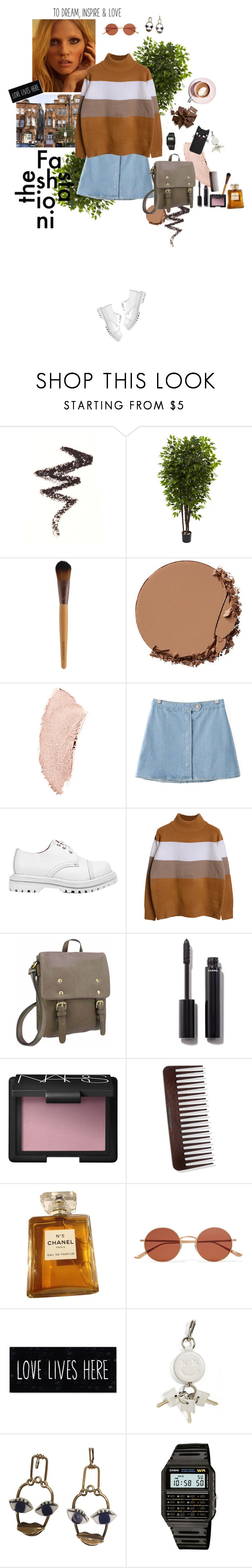 """""""Sweet Almond"""" by wildmiu ❤ liked on Polyvore featuring NYX, Nearly Natural, Urban Decay, Chanel, Chicnova Fashion, Jeffrey Campbell, NARS Cosmetics, Oliver Peoples, Martha Stewart and Alexander Wa"""