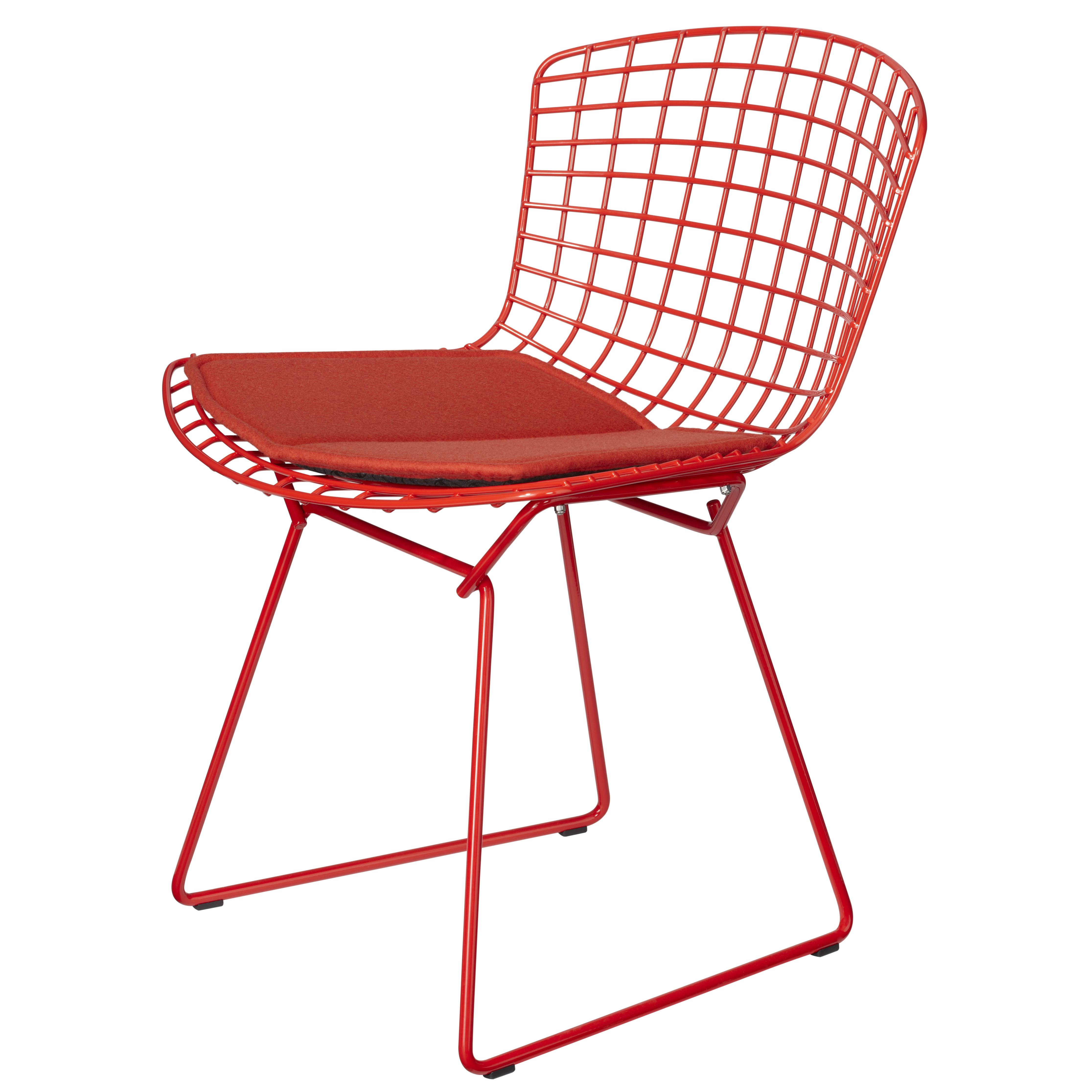 Red Bertoia Chair By Harry Bertoia, 1950. Produced Knoll