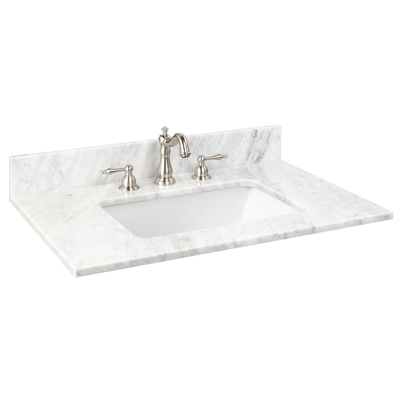 31 X 22 Marble Vanity Top For Rectangular Undermount Sink Bathroom Marble Vanity Tops Bathroom Vanity Tops Vanity Top