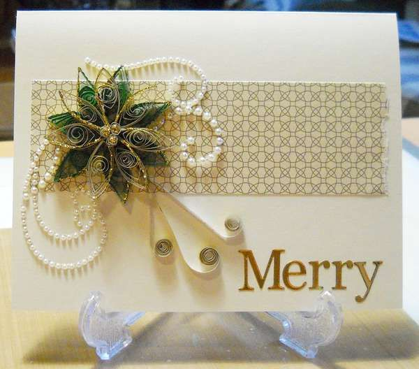 Searchwords: Quilled Christmas Card. Made By Justme022746