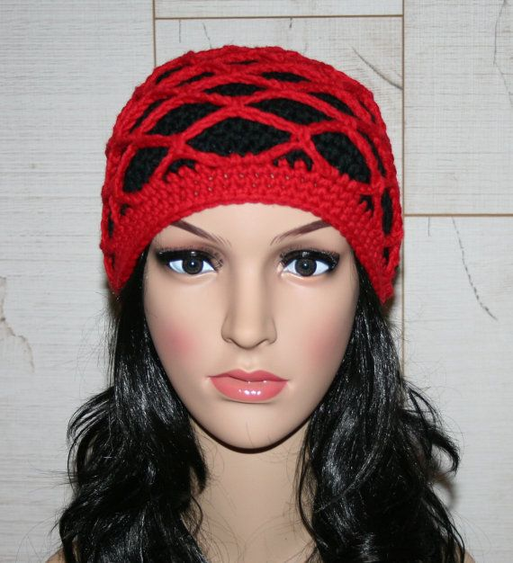 Fishnet Beanie Adult Crochet Hat | Gorros