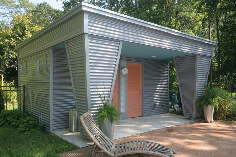 Container Home Siding : Image result for house with corrugated metal siding