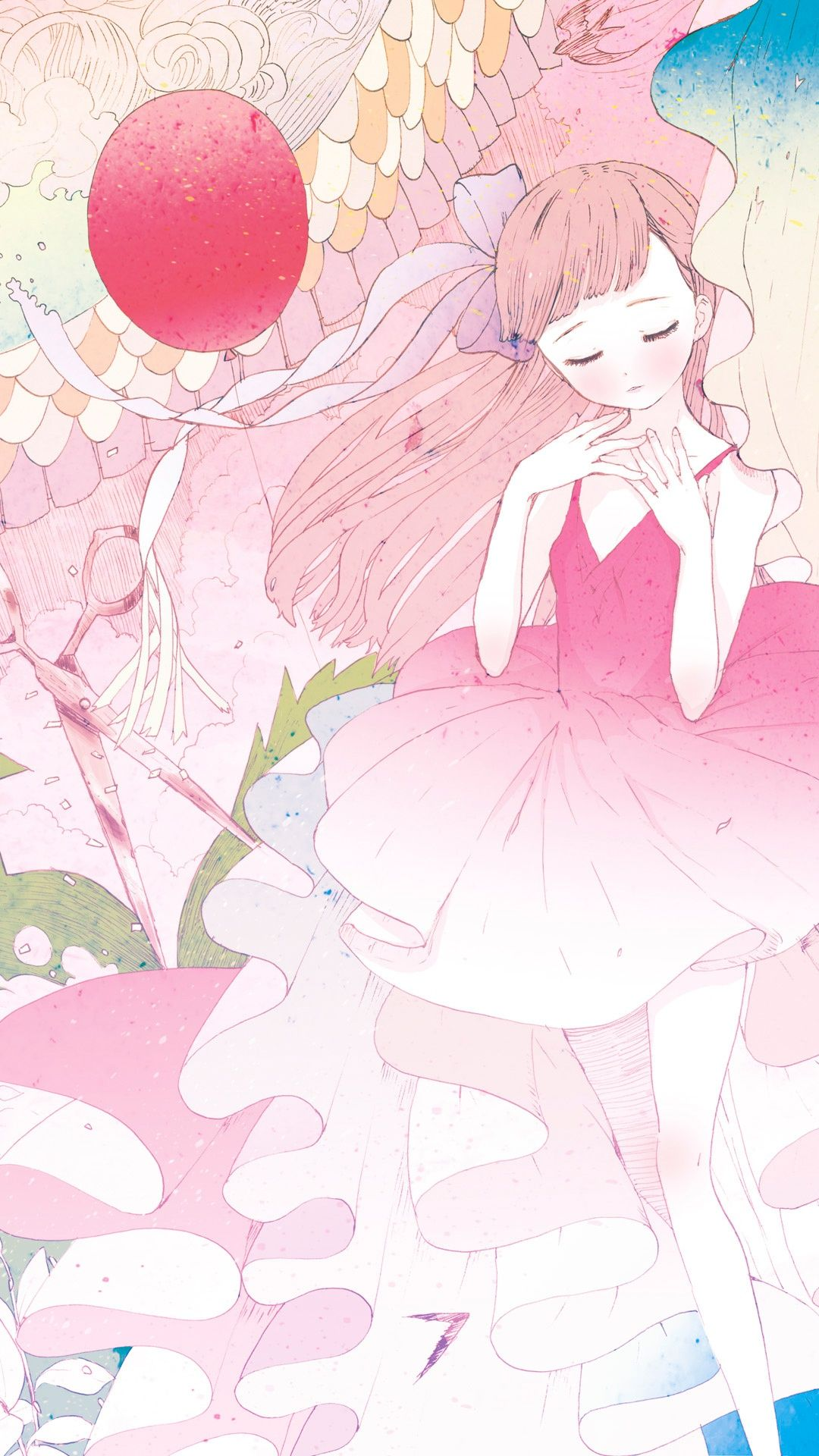 Girl pink iPhone Wallpapers. Tap to see more Anime iPhone