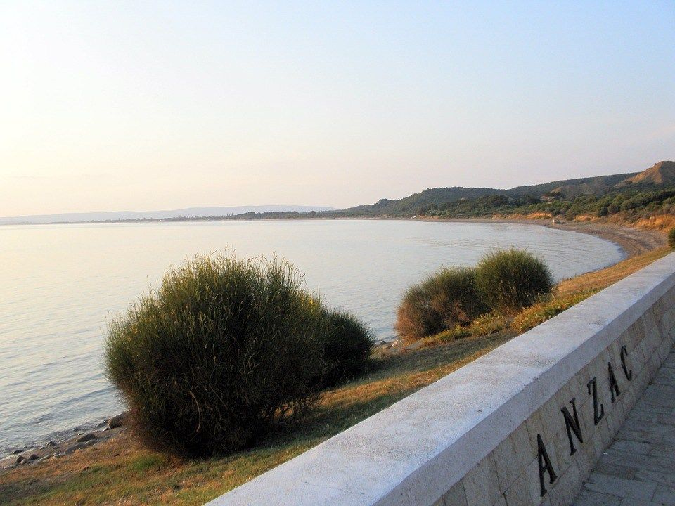 The Shores of Gallipoli and the ANZAC monument