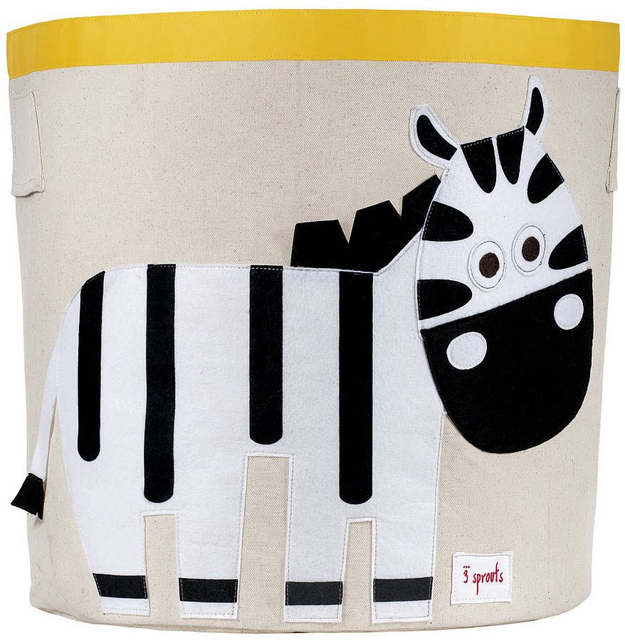 Zebra Toy Storage Bin Toy storage bins Toy storage and Kids boutique